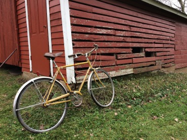 Old bike by the granary