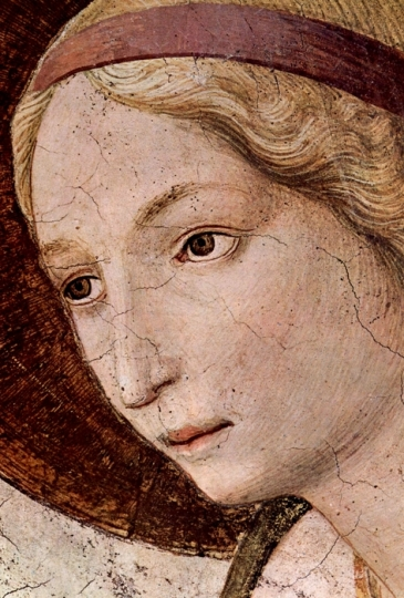 """Detail of Fra Angelico, """"The Annunciation"""""""