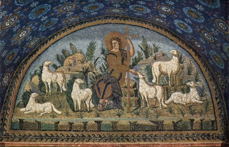 Christ the Good Shepherd (5th c. mosaic)