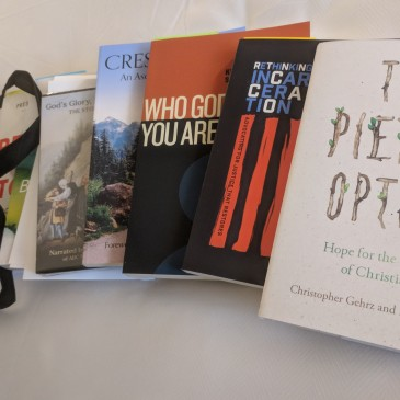 The Pietist Option and other books given away at the ECC's Midwinter 2018 conference