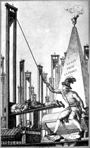 Robespierre executes the executioner in the Reign of Terror