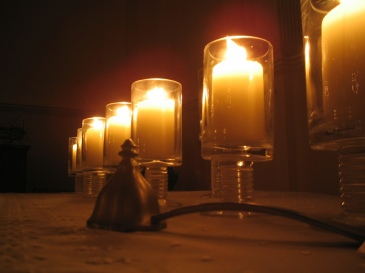 Candles at Tenebrae service