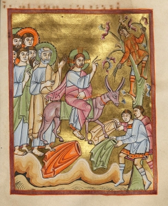 11th c. painting of Jesus' entry into Jerusalem