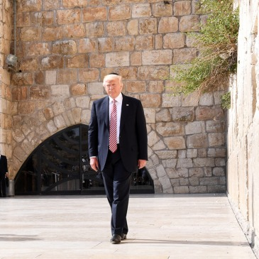 Trump at Western Wall in Jerusalem