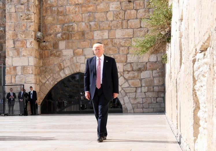 Trump at Western Wall in Jerusalem