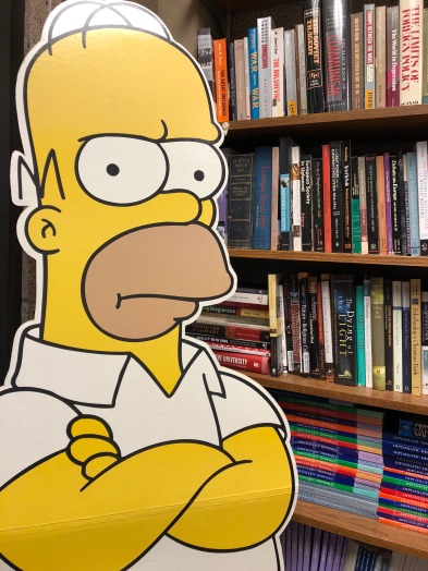 Life-sized Homer Simpson cut-out in my office