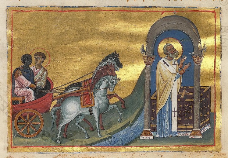 Icon of the baptism of the eunuch