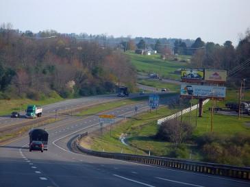 Highway with billboards