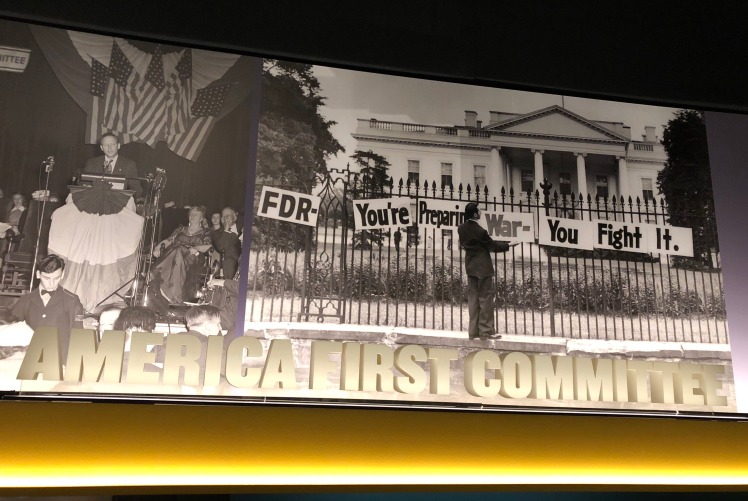 Lindbergh speech as part of America First panel at USHMM exhibit