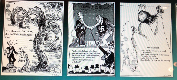 Dr. Seuss cartoons showing Charles Lindbergh as a Nazi stooge