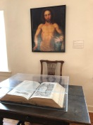 Moravian Bible and painting of Jesus