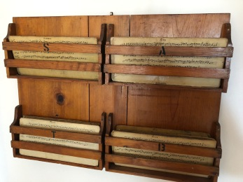 Wooden choral parts