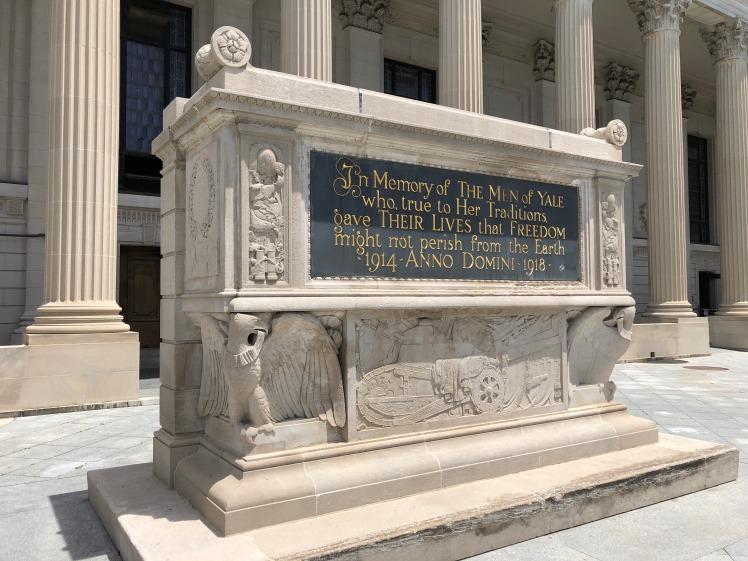 Yale WWI cenotaph