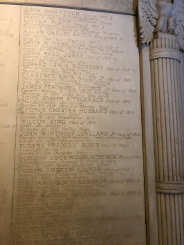 WWI tablet in Yale's Memorial Hall