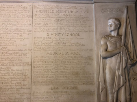 """Devotion gives a sanctity to strife"" - Civil War tablet in Memorial Hall"