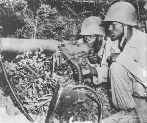 Machine gun crew during Korean War