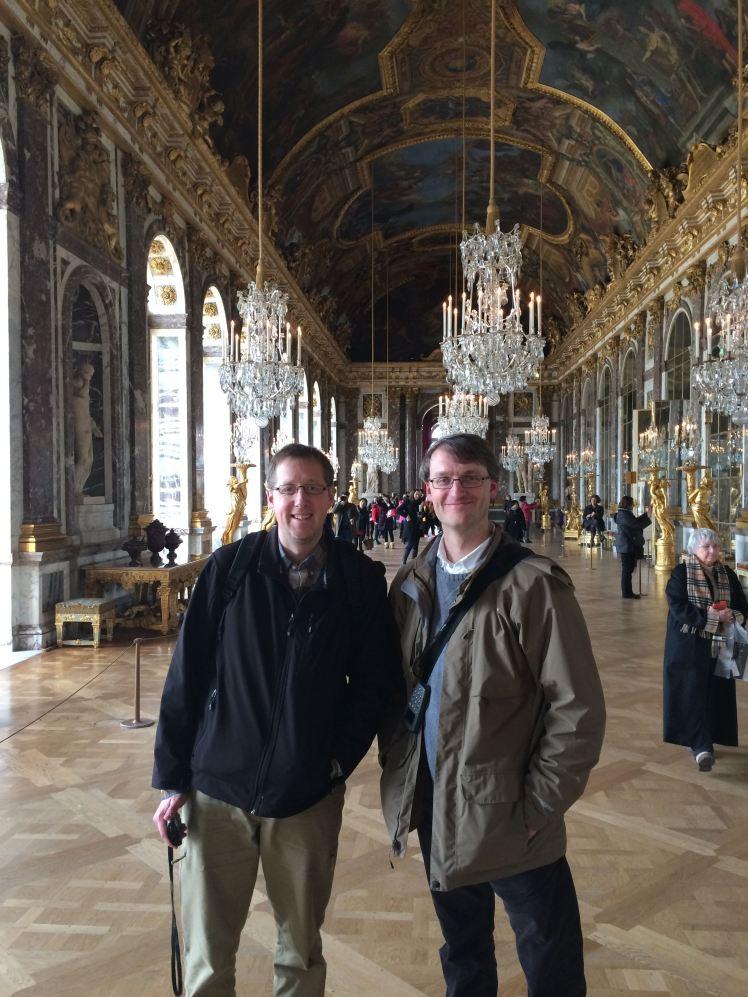 Sam Mulberry and Chris Gehrz at Versailles