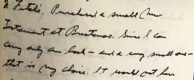 Fragment of Lindbergh diary from April 3, 1944