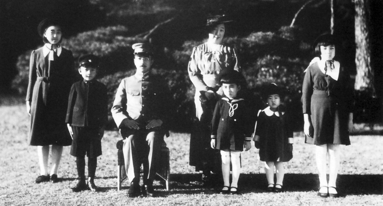 December 1941: Hirohito and family