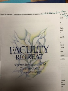 Cover of 2018 Bethel Faculty Retreat program