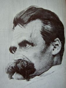 1899 drawing of Friedrich Nietzsche