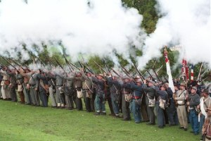 American Civil War reenactment in Bath, England