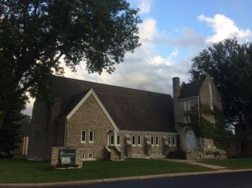 The original building of Roseville (MN) Lutheran Church