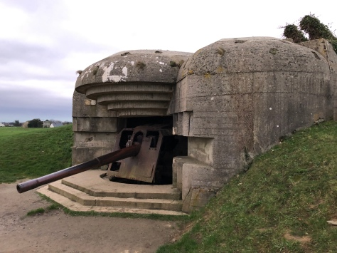 German artillery position at Longues-sur-Mer