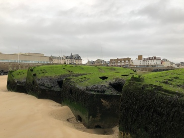 Mulberry harbour fragments at Arromanches