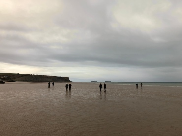 Former Gold Beach at low tide