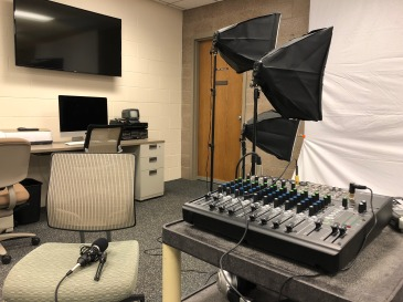 Podcast studio in Bethel's Maker Space