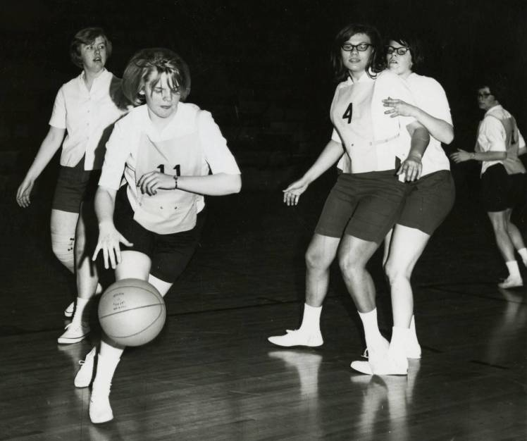 Women's basketball at Bethel in the mid-1960s