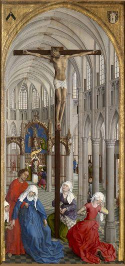 """Central panel of van der Wyden, """"Seven Sacraments"""""""