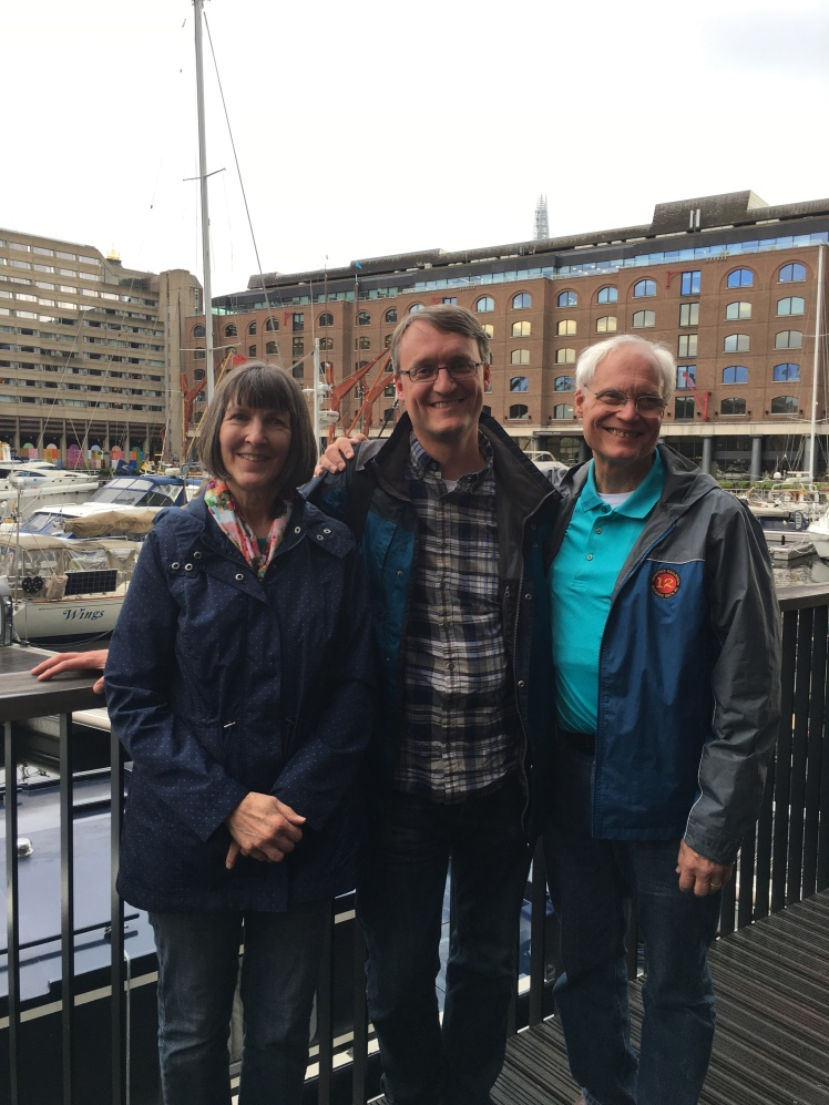 Elaine, Chris, and Dick Gehrz in London