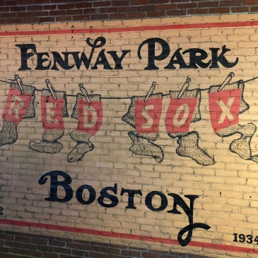 1934 painting on the wall of Fenway