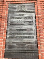 Plaque marking the building of Fenway Park