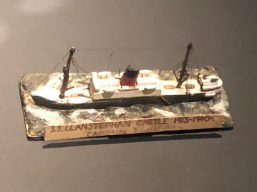 Balsa model of a ship that an English child made while fleeing the Blitz