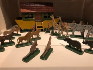 Hand made Noah Ark's set for a British boy sent to the country during the Blitz