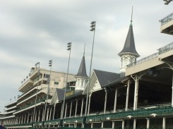 The grandstand at Churchill Downs