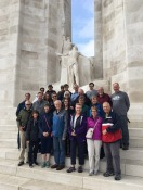 Our 2019 group at the Canadian National WWI Memorial in Vimy, France