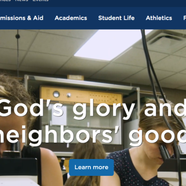 Screen shot of Bethel University website on Aug. 25, 2019