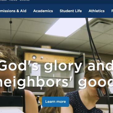 Screen shot of Bethel University website on Aug. 25, 2019