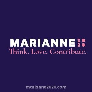 2020 campaign poster for Marianne Williamson