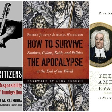 Covers of three e-books on sale this month from Eerdmans