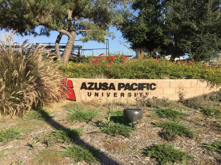 Azusa Pacific University entrance sign