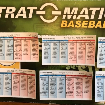Strat-o-Matic Baseball box with player cards
