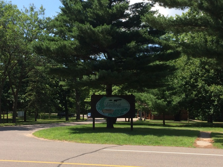 Charles A. Lindbergh State Park entrance in Little Falls, MN