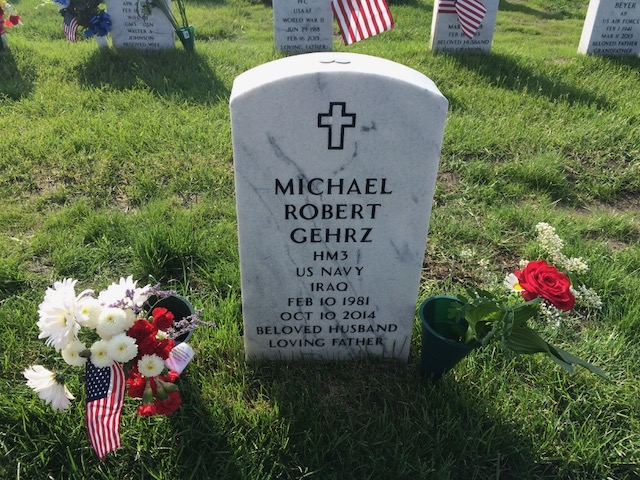 My cousin Mike's grave at Fort Snelling National Cemetery