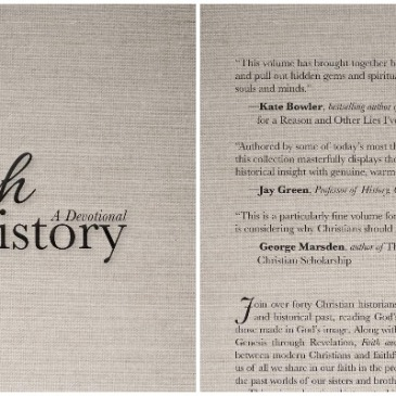 Front and back cover of Faith and History: A Devotional